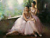 Ballet in painting